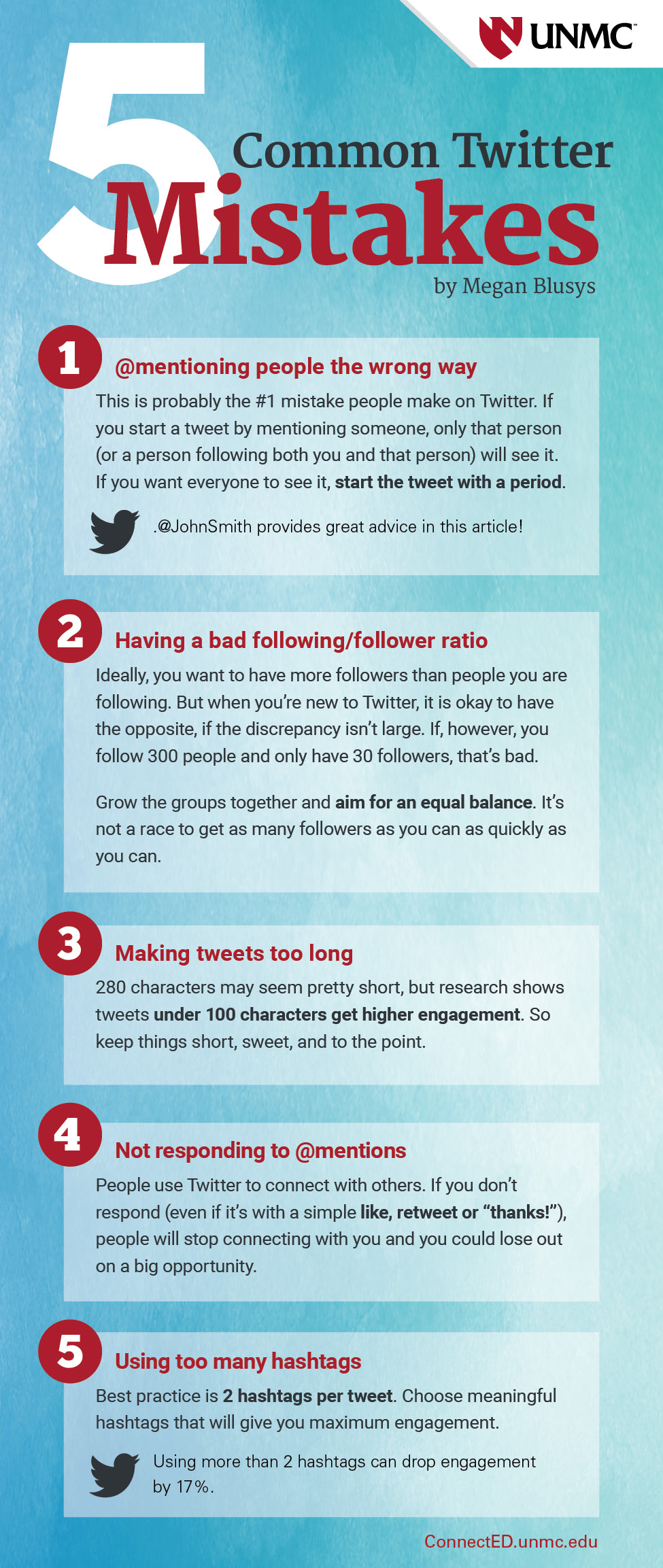 5 Common Twitter Mistakes by Megan Blusys