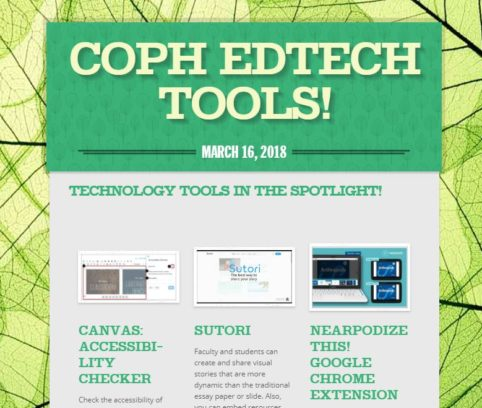 COPH ED TECH newsletter image
