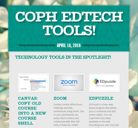 Ed Tech newsletter screenshot