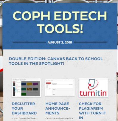 screenshot of edtech newsletter