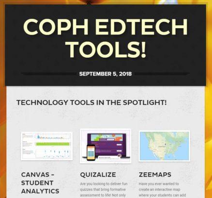 COPH ED Tech Newsletter screenshot