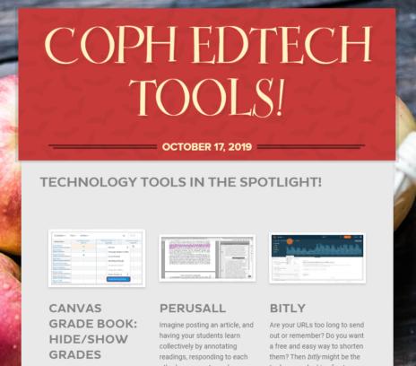 screenshot of ed tech newsletter